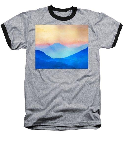 Blue Mountains Watercolour Baseball T-Shirt