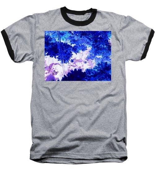 Blue Mums And Water Baseball T-Shirt