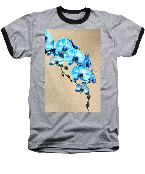 Blue Mystique Orchid Baseball T-Shirt