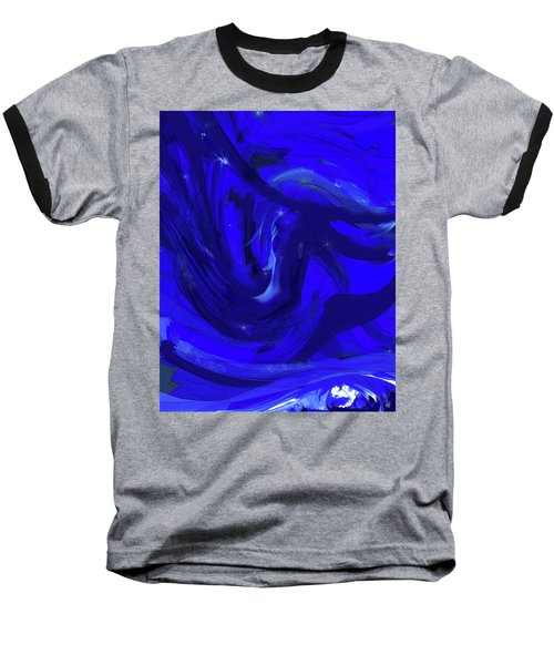 Blue Night 2 Baseball T-Shirt