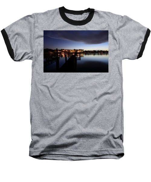 Baseball T-Shirt featuring the photograph Blue Night by Laura Fasulo