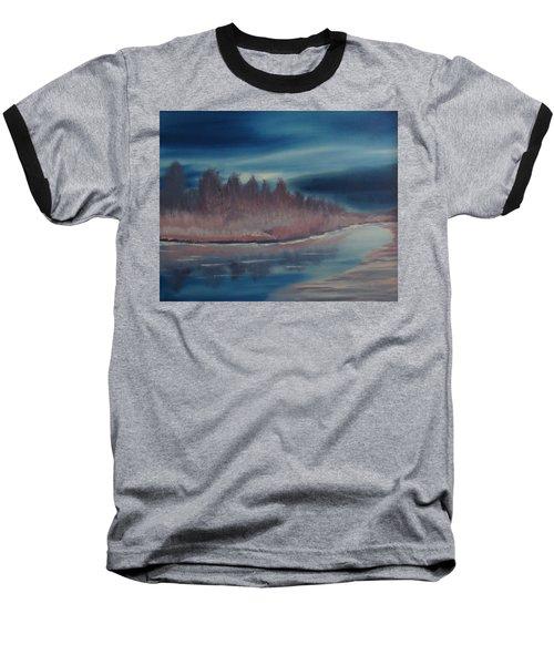 Baseball T-Shirt featuring the painting Blue Nightfall Evening by Rod Jellison