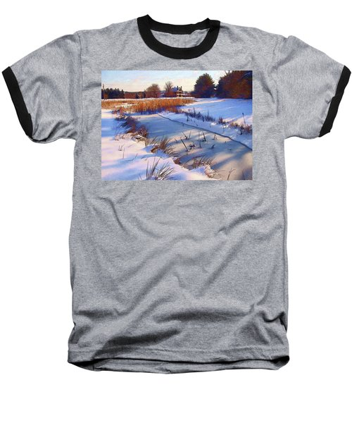 Blue Noon Baseball T-Shirt by Betsy Zimmerli