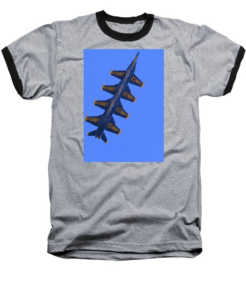 Blue On Blue Baseball T-Shirt