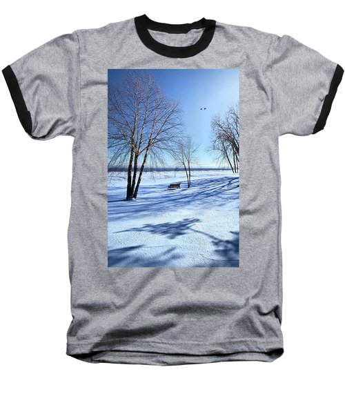 Baseball T-Shirt featuring the photograph Blue On Blue by Phil Koch