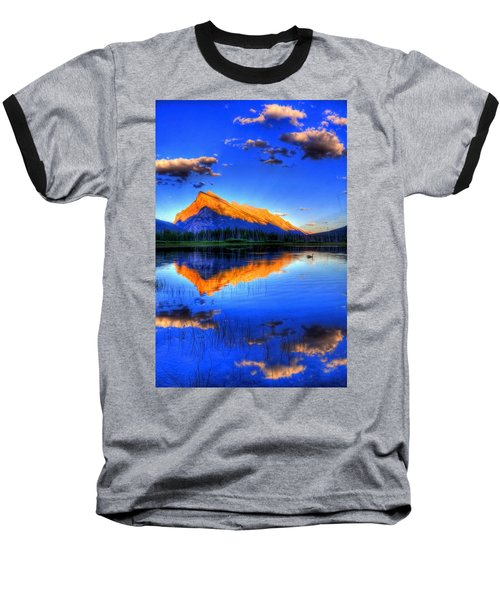 Baseball T-Shirt featuring the photograph Blue Orange Mountain by Test Testerton