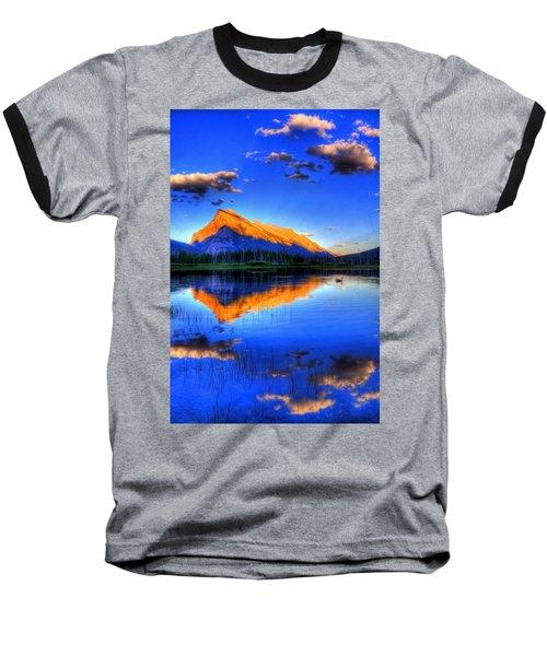 Blue Orange Mountain Baseball T-Shirt