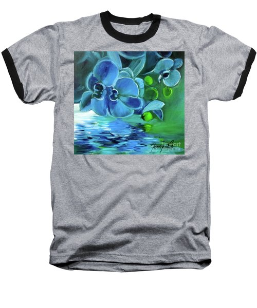 Blue Orchids Baseball T-Shirt
