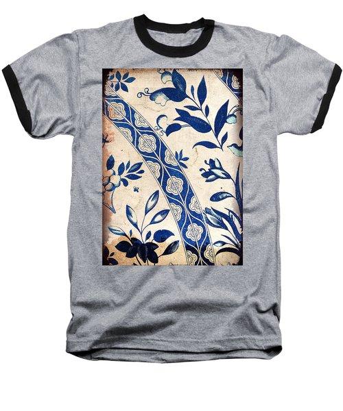 Blue Oriental Vintage Tile 04 Baseball T-Shirt