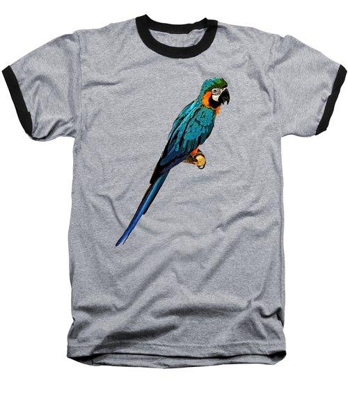 Blue Parrot Art Baseball T-Shirt