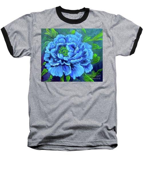 Blue Peony Jenny Lee Discount Baseball T-Shirt