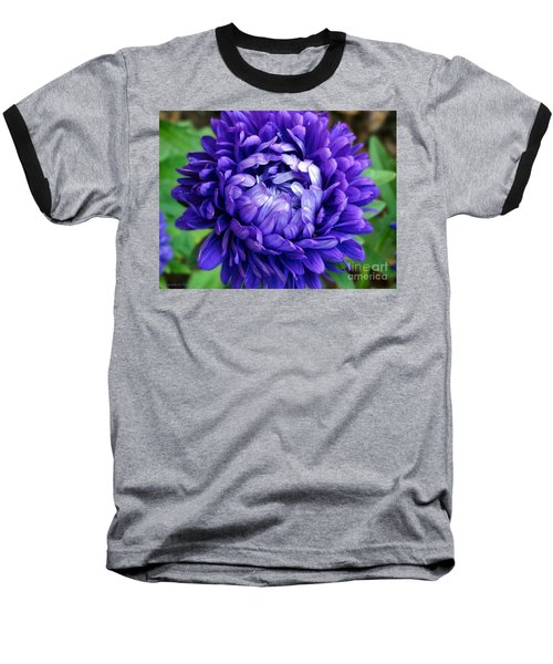 Baseball T-Shirt featuring the photograph Blue Petals by Gena Weiser