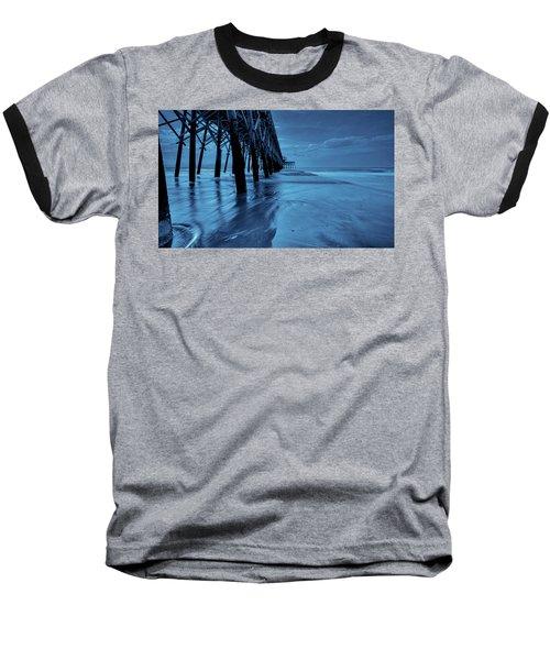Blue Pier Baseball T-Shirt by RC Pics