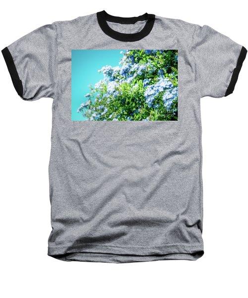 Blue Plumbago Maui Hawaii Baseball T-Shirt by Sharon Mau