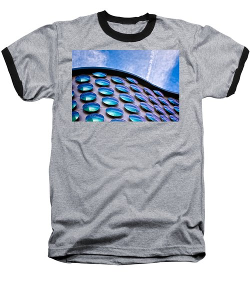 Blue Polka-dot Wave Baseball T-Shirt