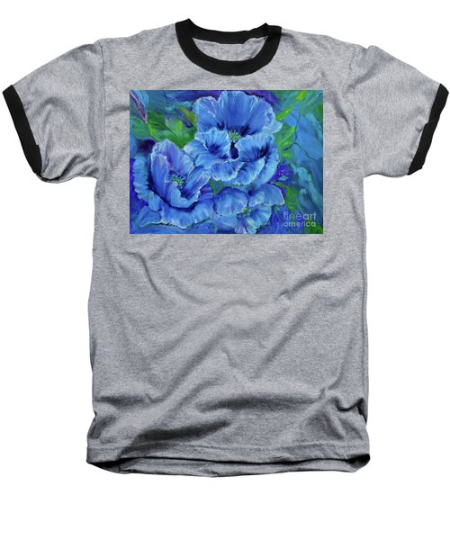 Blue Poppies 11 Baseball T-Shirt