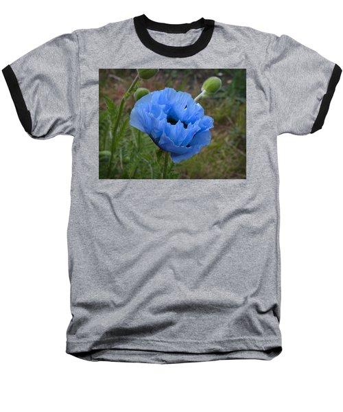 Blue Poppy Baseball T-Shirt