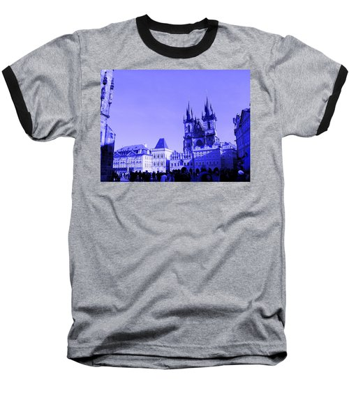 Baseball T-Shirt featuring the photograph Blue Praha by Michelle Dallocchio