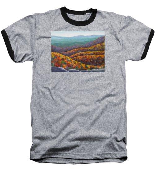 Blue Ridge Colors II Baseball T-Shirt by Anne Marie Brown