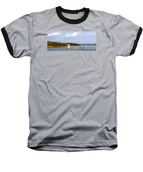 Blue Ridge Dam Baseball T-Shirt by Michael Waters