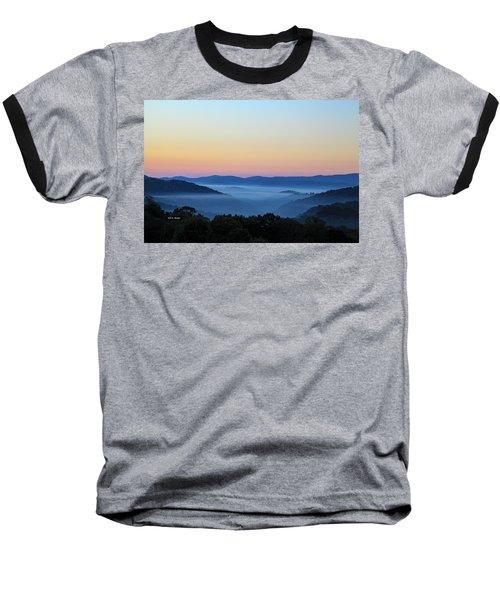 Blue Ridge Dawn Baseball T-Shirt by Dale R Carlson