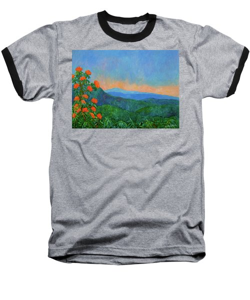 Blue Ridge Morning Baseball T-Shirt by Kendall Kessler