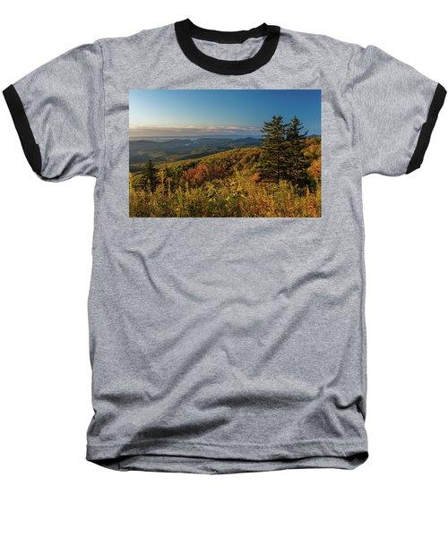 Blue Ridge Mountain Autumn Vista Baseball T-Shirt