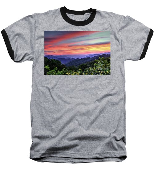 Blue Ridge Mountain Color Baseball T-Shirt
