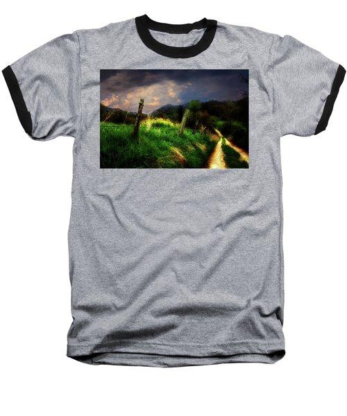 Blue Ridge Mountain Country Road Baseball T-Shirt by Gray  Artus