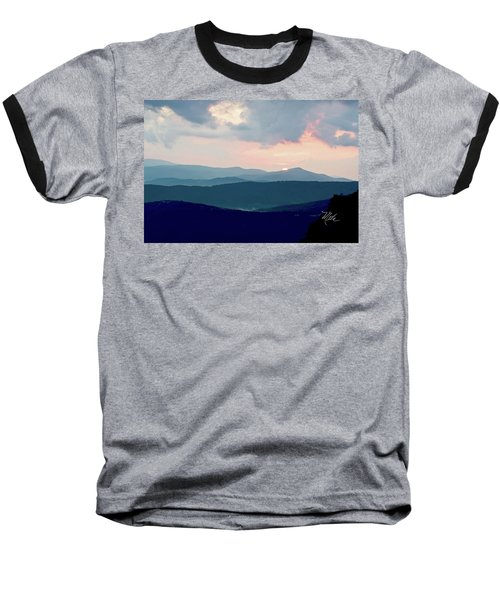 Blue Ridge Mountain Sunset Baseball T-Shirt