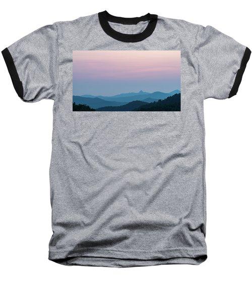 Blue Ridge Mountains After Sunset Baseball T-Shirt