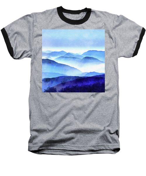 Blue Ridge Mountains Baseball T-Shirt