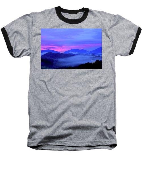 Blue Ridge Mountains Sunset Baseball T-Shirt