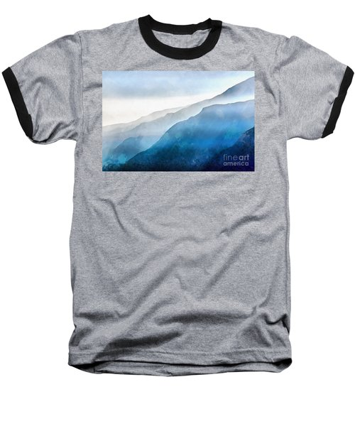 Baseball T-Shirt featuring the painting Blue Ridge Mountians by Edward Fielding