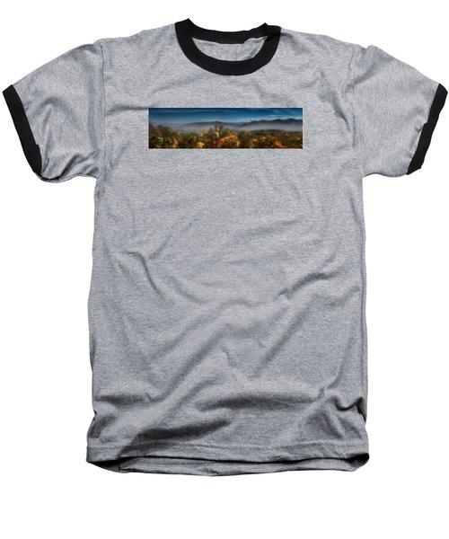 Baseball T-Shirt featuring the photograph Blue Ridge Panorama by Ellen Heaverlo
