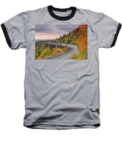 Lynn Cove Viaduct-blue Ridge Parkway  Baseball T-Shirt