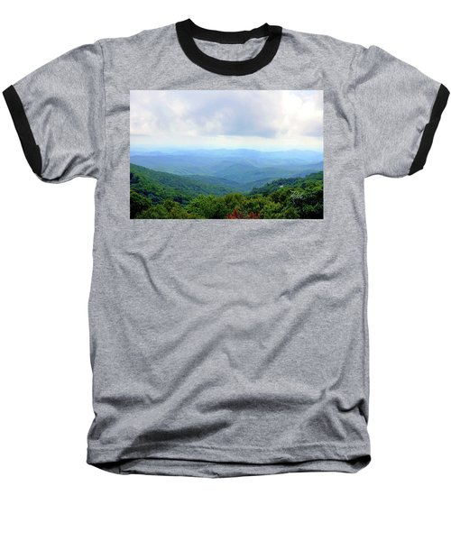 Blue Ridge Parkway Overlook Baseball T-Shirt