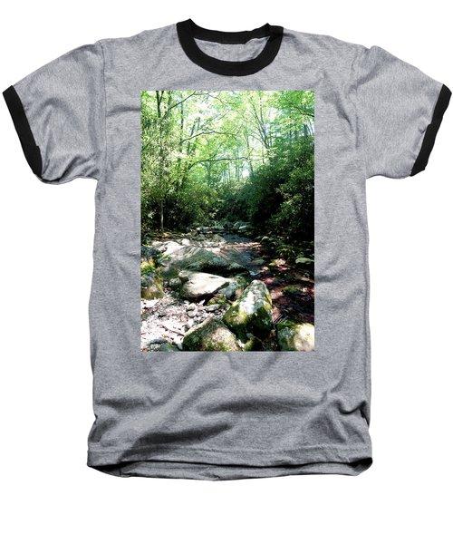 Baseball T-Shirt featuring the photograph Blue Ridge Parkway Stream by Meta Gatschenberger
