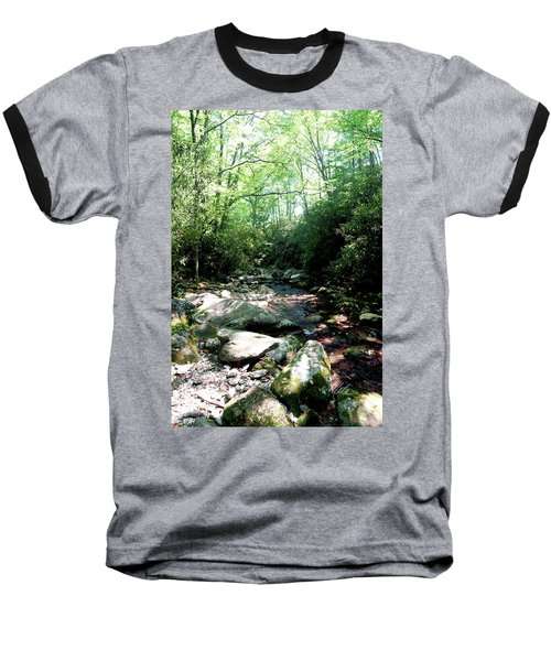 Blue Ridge Parkway Stream Baseball T-Shirt
