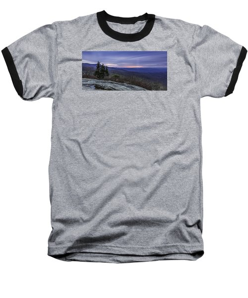 Blue Ridge Parkway Sunrise Baseball T-Shirt
