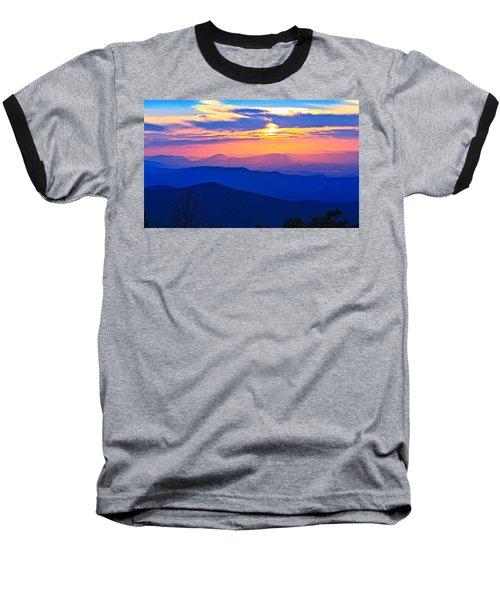 Blue Ridge Parkway Sunset, Va Baseball T-Shirt by The American Shutterbug Society