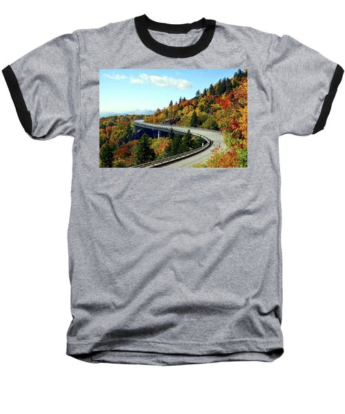Baseball T-Shirt featuring the photograph Blue Ridge Parkway Viaduct by Meta Gatschenberger