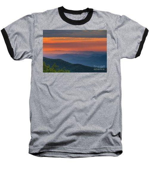 Blue Ridge Sunrise At Wintergreen  Baseball T-Shirt