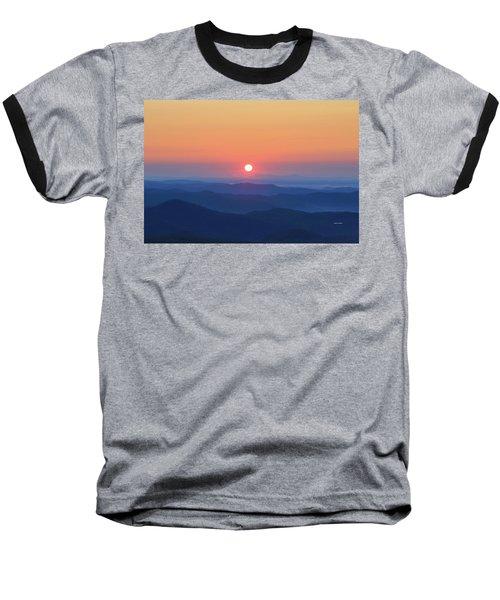 Blue Ridge Sunrise Baseball T-Shirt by Dale R Carlson