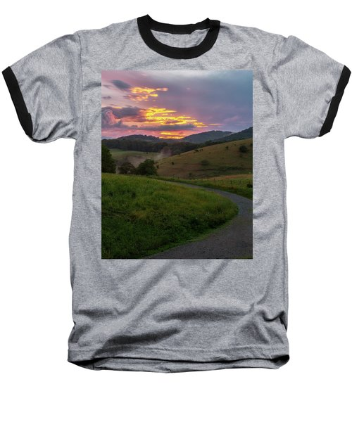Blue Ridge Sunset Baseball T-Shirt