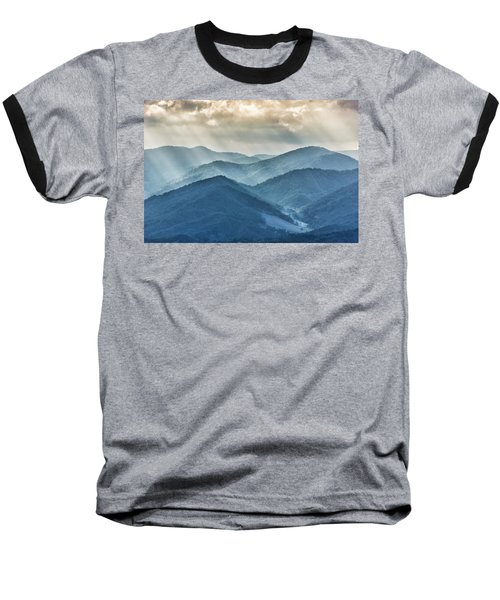 Blue Ridge Sunset Rays Baseball T-Shirt