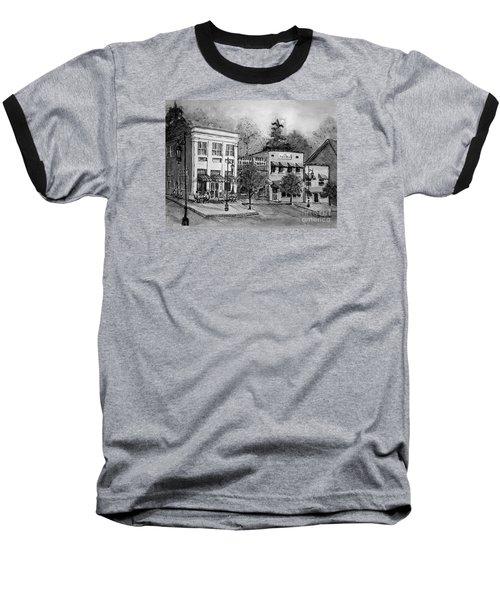 Blue Ridge Town In Bw Baseball T-Shirt