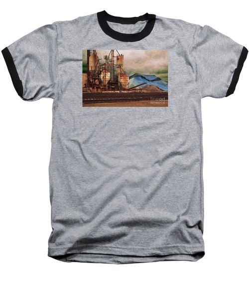 Blue Salt Baseball T-Shirt by David Blank