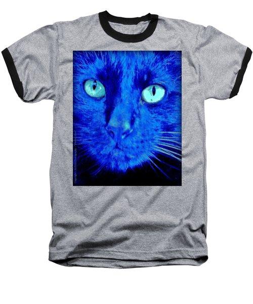 Blue Shadows Baseball T-Shirt by Al Fritz
