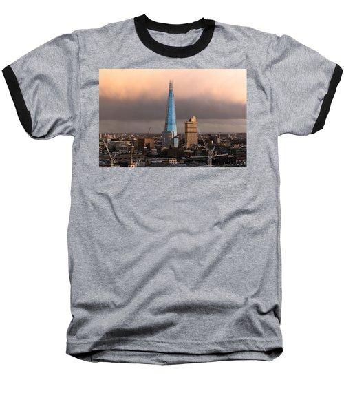 Blue Shard Winter Dusk London Baseball T-Shirt